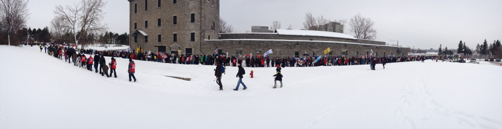 Idle No More march beginning on Victoria Island in Ottawa, January 11, 2013